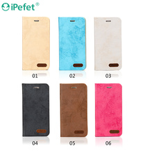 Ultra thin PU leather case with card slot for iphone 6 flip case