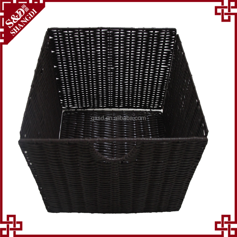SD household black round rattan bread proofing basket