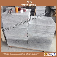 Natural steel grey granite tiles g603 honed & flamed