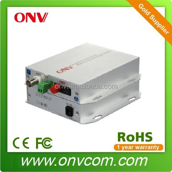 1 Channel Video Broadcasting Fiber Optic Transmitter and Receiver for bus train station safety control system