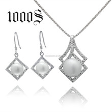 Simple The diamond fresh water pearl jewelry set , fashion jewelry sets beautiful jewelry set