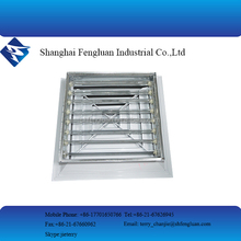 Square ceiling diffuser / aluminum linear air diffuser hvac system with damper