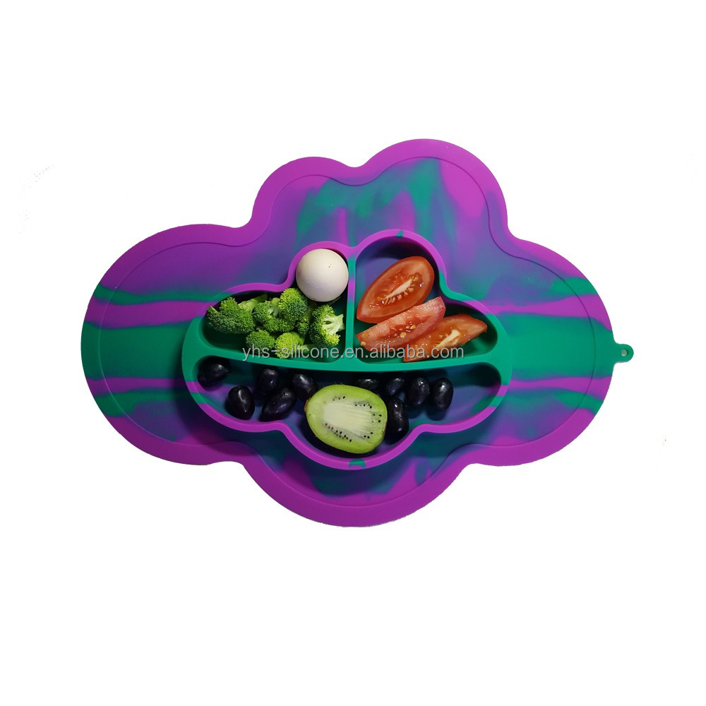 Waterproof Silicone Placemat Bar Mat Kids Cloud Shaped Plate Mat Table Mat Home Kitchen Pads