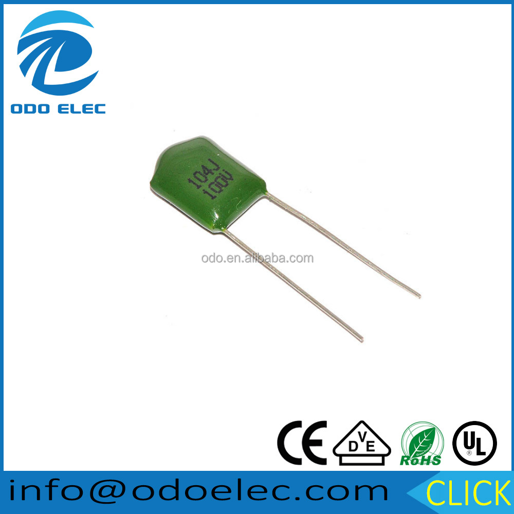 Mylar inductive polyester film capacitor 2a104j