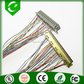 I-pex 20455-40pin to DF13-30DS-1.25c lvds cable 36awg 200mm long