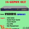 10 GE Uplink 16PON Ports Solution Economical OLT Support Layer3 Router function