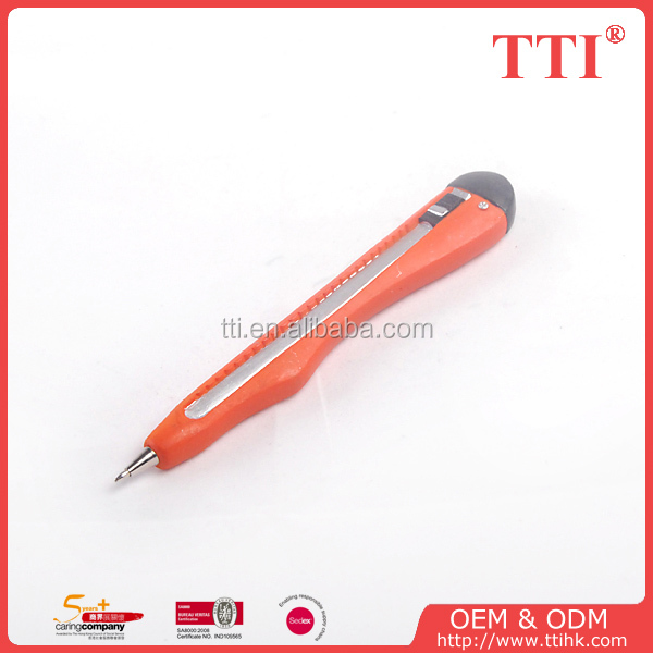 Novelty tool pen, axe nail saw scissor spanner cutter pliers shape ball pen