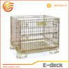 Industrial welded collapsible warehouse storage folding wire storage cage