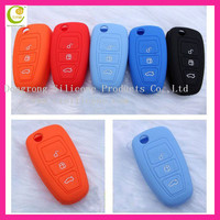 New style soft non-toxic silicone car folding key case for ford key cover with beautiful design for gifts