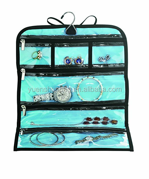 jewelry roll bag organizer travel storage toiletry wash bag