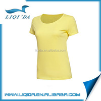 2016 Top oem yellow polyester softextile dry fit custom t-shirt