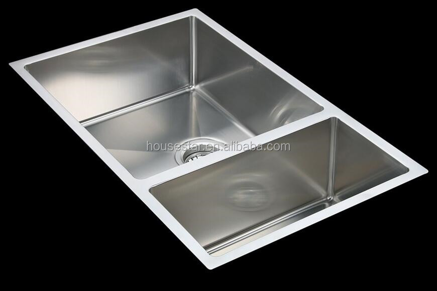Made in china cupc 70 30 double bowl handmade stainless steel kitchen sink buy laundry sink - American made stainless steel sinks ...
