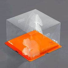 Top class high quality enviromental recycled hard clear plastic birthday cake box