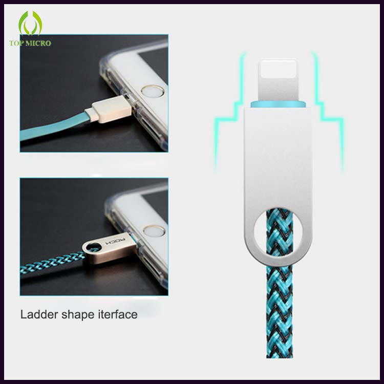 New OEM Quick Charge Braided Data Line for iPhone/Type-C/Micro USB Smart Cable
