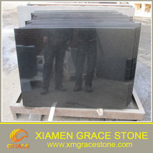 High Polished Hebei Black Granite Tiles 600x600