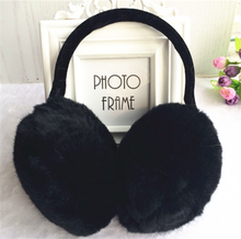 100% Real Rex Rabbit Fur Ear Muffs / Rose Flower Shape Fur Earmuff
