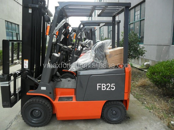 Four wheel cheap AC/DC power 2.5T Electric Forklift Truck
