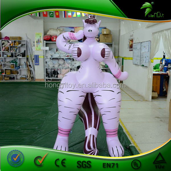 Incredible Design Inflatable Pink Horse Sexy Girl, Boob Lady Inflatable From Hongyi Toys
