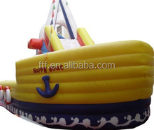 Attractive Large Emulational Boat Children Inflatable Slide