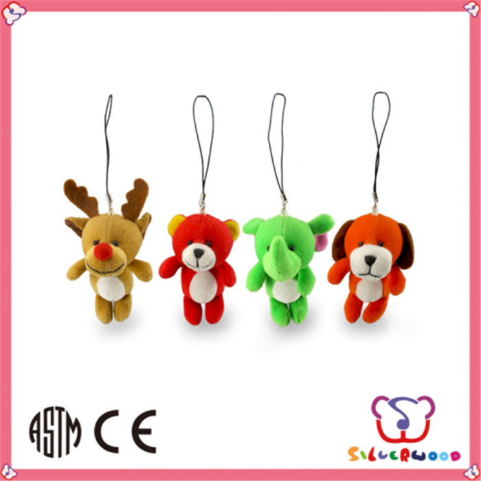 SEDEX Factory hot selling soft animal shaped custom made plush keychains