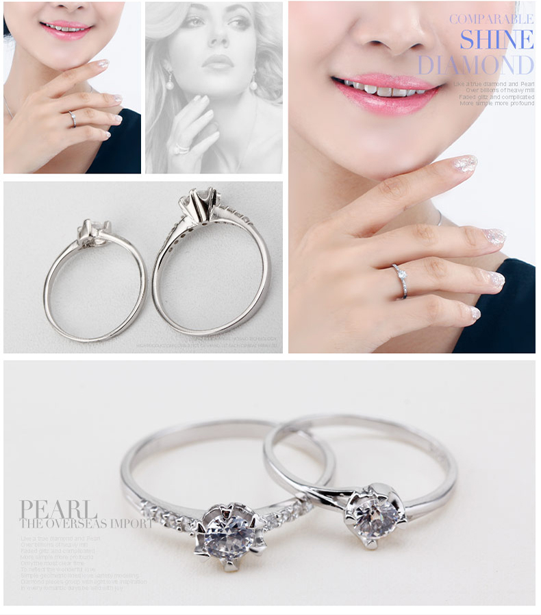 925 Silver Ring Arrival White Zircon Fashion Women Party Ring
