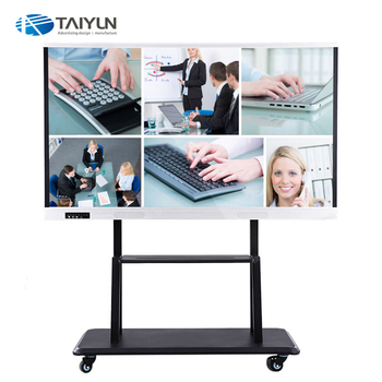65 Inch Interactive electronic whiteboard ir touch screen smart tv for school teaching and meeting
