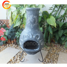 Antique Terracotta Outdoor Chimney for Garden Decor
