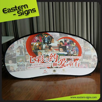 Oval pop up banner with top quality Dye-Sub printing