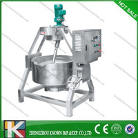 Stainless steel gas/steam/electric heating tilting jacketed cooking pot/stainless steel steam jacketed kettle