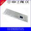 Industrial rugged metal numeric keyboard with integrated touchpad