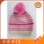 Custom knitted beanie hat ladies winter knitted hat knit cap