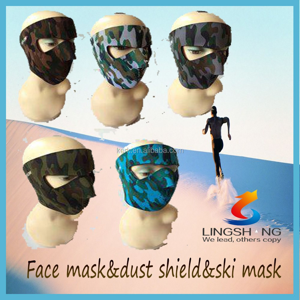 wholesale sports fabric breathing mask face shield neoprene face mask