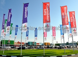 Quality Fabric Print |Fiber Glass Poles See Through Image or Double Side Flag Banner