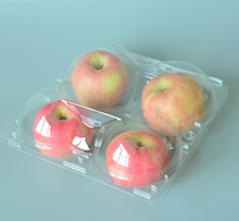 Hot selling recycled plastic apple fruit tray/fresh packing box