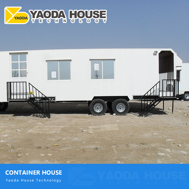 New modern trailer house prefabricated steel frame modular mobile toilet house special design mobile container home for sale