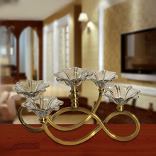 Factory hot selling wedding decoration metal glass candle holders