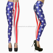 wholesale cheap fashionable sexy women's tight American Flag Print leggings
