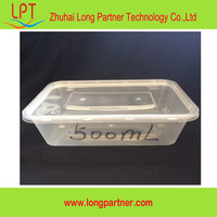 new model commercial disposable plastic fast food packaging container