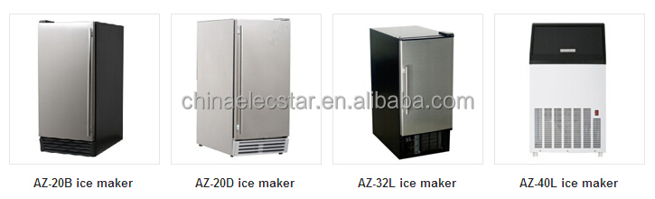 Built-in or Free Standing outdoor Ice Maker with 12 kg Storage Capacity, 25 kg Clear Cube Ice Production, Ice making machine 02