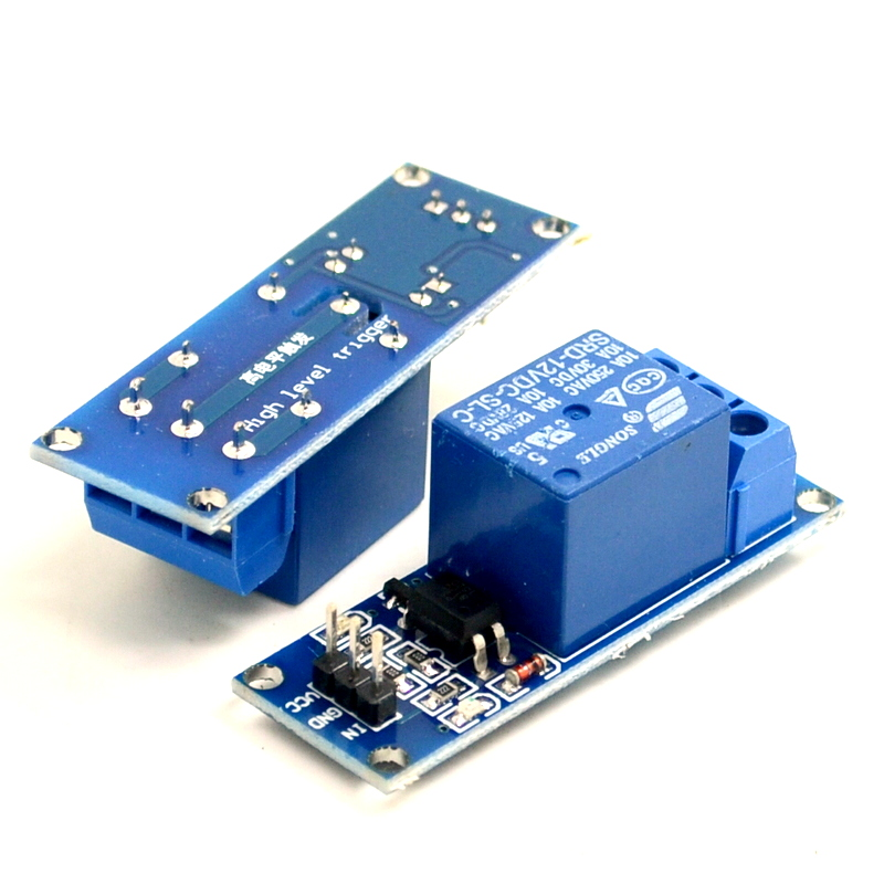 1 kanal relaismodul mit opto isolation niedrigen 5v12v24v relais schalter mit kontrollleuchte. Black Bedroom Furniture Sets. Home Design Ideas