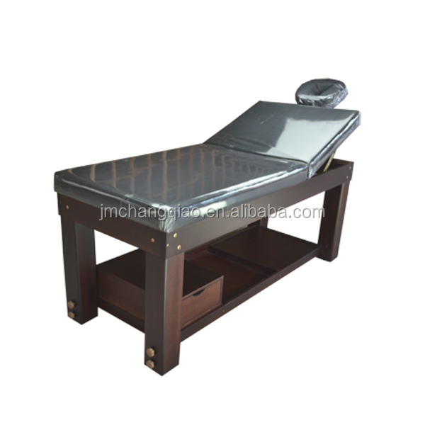 2016 New Product Good Quality Spa Facial Massage Bed With Bedside Tables