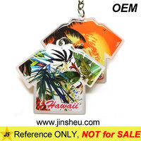 Promotional Hawaii Souvenir Key Ring Wholesale Cheap Epoxy Key Chain