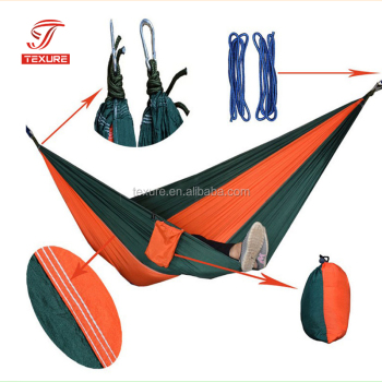 Ultralight 2 Person Portable Nylon Parachute Nylon Hammock for Light Travel, Camping, Hiking, Backpacking