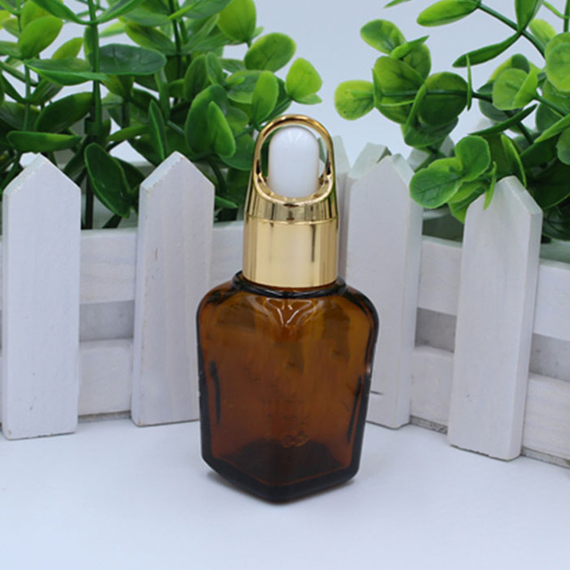 10ml 20ml 30ml 40ml eye face essential oil cosmetic packaging blue clear amber square glass dropper bottle