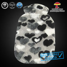 BS1970-2012 2000ml faux fur rubber hot water bag with cover which has a sense of hierarchy