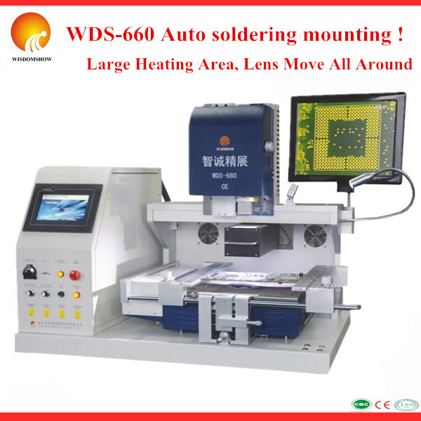 Popular 110V/220V BGA rework station WDS-660 auto laptop motherboard repair solution for samsung galaxy gpu soldering