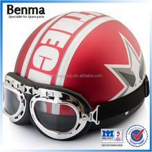 red/white motorcycle helmets,ABS helmets and PC visor hot sale in Europe