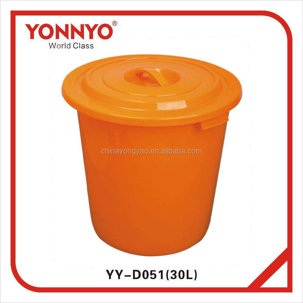30L plastic water barrel with lid