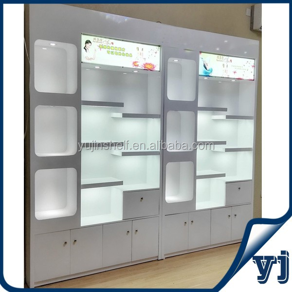 Shop Display Wooden Furniture Showcase Design Wall Glass