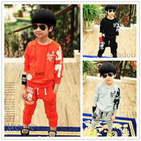 2015 Kid Boys Suit Clothes Children Sporty Clothing Set From China Supplier